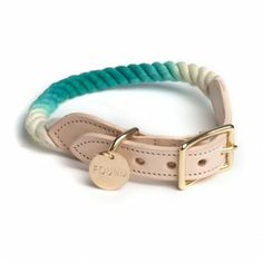Found Rope Collar Teal Ombre