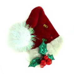 Holiday Santa Hat Brooch Christam Special 017P #Jpjewels8 #SantahatPin #(Z-J261223-santa ha)