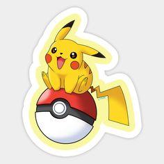 Pikachu on a Pokeball by corzamoon