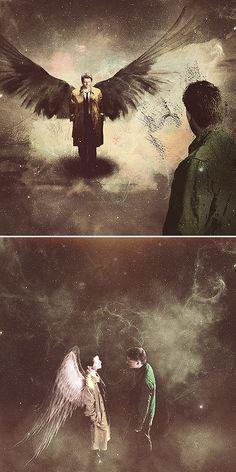 Dean + Castiel #spn #destiel