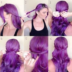 # hairstyle #Tutorial #purple #fashion