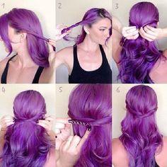 # hairstyle #Tutorial #purple #fashion