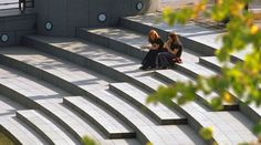 Amphitheater seating stairs...nice pic.