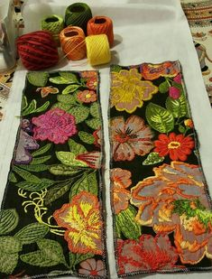 Types Of Embroidery, Silk Ribbon Embroidery, Crewel Embroidery, Machine Embroidery, Creative Embroidery, Hand Embroidery Designs, Embroidery Patterns, Fabric Art, Fabric Decor