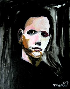 Decayed - Self Portrait  Expressionism \ German Expressionism \ Expressionist    By. Joseph Minton    Painting, print, dark, artist, art    http://www.josephmintonart.com/JosephMintonArt.html