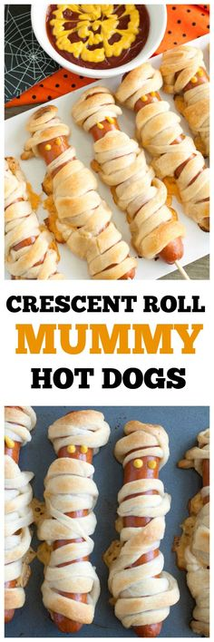 Crescent Mummy Hot Dogs are a fun way to celebrate Halloween. Great for a party! #ad #madeathome @Pillsbury @Walmart
