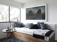 Chic Interior Design Courteney Cox's House – Master Bedroom Sitting Sofa Bed Furniture Design, Photo  Chic Interior Design Courteney Cox's House – Master Bedroom Sitting Sofa Bed Furniture Design Close up View.