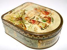 Gebr.Stollwerck Köln Frühstücksdose / Brotdose um die Jahrhundertwende