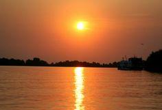 sunset danube delta