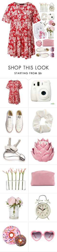 """Rouge"" by cassonade ❤ liked on Polyvore featuring Motel, Fujifilm, Converse, Topshop, Georg Jensen, Zara Home, Dot & Bo, BAGGU, Newgate and Iscream"