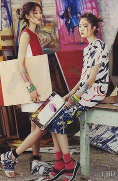 Girls of Art School in Vogue Girl Korea with Hyun Ji Shin - - Fashion Editorial Korean Fashion Trends, Fashion Tips For Women, Vogue Editorial, Editorial Fashion, Marie Claire, Girl Korea, Vogue Korea, Korean Outfits, Korean Clothes