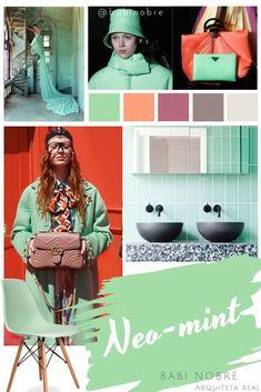 """Como o próprio nome já diz """"neo"""" de novo e """"mint"""" de menta, literalmen… – Claus Hochreuter – Trend Trend Fashion, Summer Fashion Trends, Summer Trends, Womens Fashion, Cheap Fashion, Fashion 2020, Blog Logo, Graphisches Design, Cool Summer Outfits"""