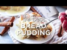 When it comes to easy recipes this Bread Pudding couldn't get any simpler. Filled with cinnamon and nutmeg this makes the perfect breakfast or dessert recipe. Best Bread Pudding Recipe, Pudding Recipes, Easy Desserts, Delicious Desserts, Yummy Food, Sweet Recipes, Easy Recipes, Cooking Recipes, Flan
