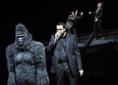 """8. """"THE RADICAL MOOR: German actress Susanne Wolff dons a gorilla costume to play the role of Othello in a February 2011 performance by Berlin's Deutsches Theater."""" With this production, the racism is heightened to the point of absurdism. He is being made into a dangerous animal. An animal associated to African American stereotypes. This director made a very bold statement that emphasized race. It seems like the whole play would become about that instead of jealousy and betrayal."""