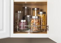 Organize Your Kitchen In 11 Minutes Or Less Easy Install Single Shelf Swivel  Lazy Susan. Kitchen OrganizersCabinet ...