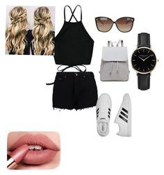"""Girly"" by zaiazas on Polyvore featuring moda, Boohoo, adidas, Linda Farrow i ROSEFIELD"