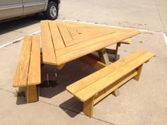 Seriously Cool Coffee Table House Objects Pinterest Tables - Triangle picnic table