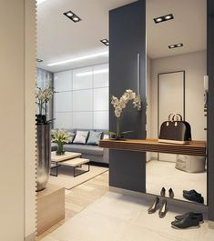 Ideas Apartment Entrance Wall Mirror For 2019 - kitchen apartment. Ideas Apartment Entrance Wall Mirror For 2019 Ideas Apartment Entrance Wall Mirror For 2019 Room Furniture Design, Dining Room Design, Living Room Furniture, Living Room Decor, Kitchen Design, Apartment Entrance, House Entrance, Entrance Ideas, Modern Entrance