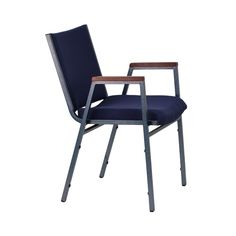 hercules series 21 w church chair in blue fabric with cup book rack