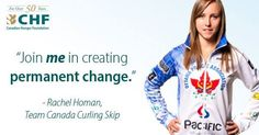 "Rachel Homan, Team Skip: ""Join me in creating permanent change"" Women's Curling, Chf, Calgary, Curls, Champion, Join, Canada, Change, Hair Weaves"