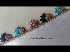 How to Crochet a Jasmine Stitch - Design Peak - Louisa Crochet Borders, Easy Crochet Patterns, Crochet Lace, Baby Boy Knitting Patterns, Ribbon Work, Crochet Videos, Stitch Design, Fabric Painting, Boho
