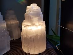 Enjoy the healing effects of a Selenite lamp.  Cleansing, clearing and stabliizing, it is a must have!