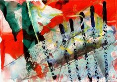 G.A.4. 1984. Coloured ink, watercolour, graphite and crayon on paper. Gerhard Richter.