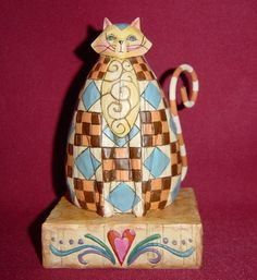 Cats in Art, Illustration, Photography and Design: Jim Shore Heartwood Creek Abigail Cat Figurine