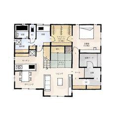・37坪・3LDK・2階建・主寝室と洗面の間にあるファミリークロークは大容量かつ、通り抜けができる家事楽動線です( ˆoˆ )・水回りはそれぞれスペースにゆとりがあるので、朝の忙しい時間も家族それぞれが余裕をもって身支度できます・2階は子供部屋がメインですが、大きなインナーバルコニーでは、雨を気にせず洗濯物を干したり、家族でくつろぐこともできます・#間取り図 #間取り #間取り集 #プラン #とりどりまどり #ファミリークローク #吹き抜け #インナーバルコニー Instagram Widget, Japanese House, House Layouts, Interior And Exterior, Architecture Design, House Plans, Floor Plans, House Design, How To Plan
