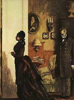 Illustrations for Leo Tolstoy's epic novel Anna Karenina by artist Orest Vereisky