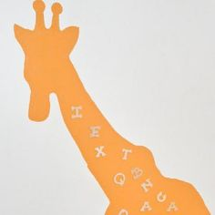 A Magical Magnetic Giraffe is living on the wall! Animal crafts for kids like this cool painted giraffe make near organization ideas as well as impressive decorative crafts for kids bedroom walls. Bring home the African savannah, or make any magnetic shape for your walls!