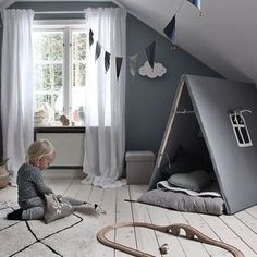 Happy Saturday everyone! We love this gorgeous kid's room by @emsloo 👈🏻 Miffy lamp and Kid's play tent available online ✨ . #christmas #kidsroom #kidsroomdecor #nordichome #nordicinspiration
