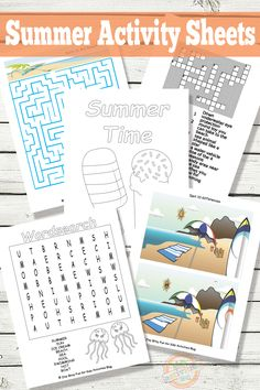 Summer is here! Your kids will enjoy these fun printable summer activity sheets!