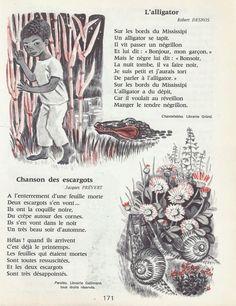 Desnos - Prévert    | L'alligator (Robert Desnos) - Chanson des escargots (Jacques Prévert)