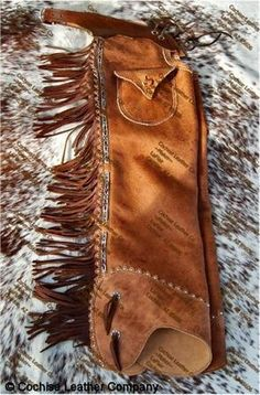 Old Time Shotgun Leather Chaps - some vintage western wear to add authenticity to your fab space!