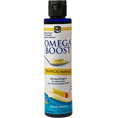 Nordic Naturals  Omega Boost For Heart Brain and Immune Health Mango 6 Ounces *** Read more  at the image link.  This link participates in Amazon Service LLC Associates Program, a program designed to let participant earn advertising fees by advertising and linking to Amazon.com.