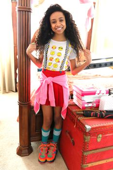 project mc2' cast | Genneya Walton getting ready to shoot a scene of Project Mc2 Courtesy ...