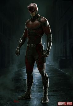 Marvel Releases Official Concept Art Of DAREDEVIL'S Red Costume
