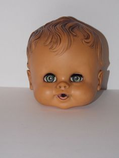 VINTAGE RUTH E. NEWTON SUN RUBBER SUNBABE BABEE-BEE REPLACEMENT DOLL HEAD ONLY