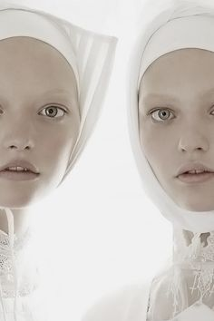 Gemma Ward and Sasha Pivovarova by Steven Meisel for Vogue Italia