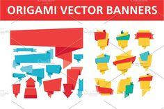 Origami Vector Banners by serkorkin on @creativemarket