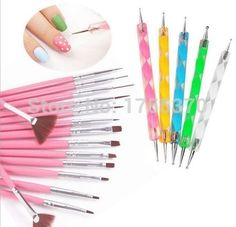 New 20pcs/set Nail Art Design Set Dotting Painting Drawing Polish Brush Pen Tools Nail Polish Art Brush Professional Makeup Brush Set