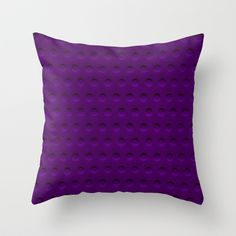 purple Throw Pillow by clemm - $20.00