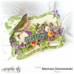 """""""Hello Spring"""" card by Mariusz using Children's Hour #graphic45"""