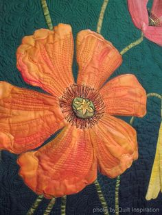 close up, Cutting Down the Tall Poppies by Helen Godden. 2013 Houston IQF, photo by Quilt Inspiration