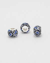 925 sterling silver pandora style bead decorated with colored enamel Wholesale Silver Jewelry, Wholesale Beads, Pandora, Enamel, Stud Earrings, Sterling Silver, Color, Style, Swag