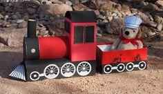 Train en carton , Activité manuelle et bricolage enfants