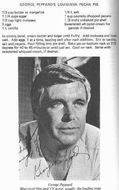 George Peppard's Louisiana Pecan Pie
