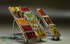 Expositor de frutas plegable en fierro