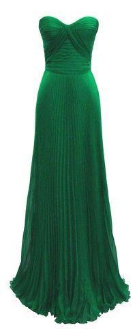 Emerald Green wedding dress maybe?